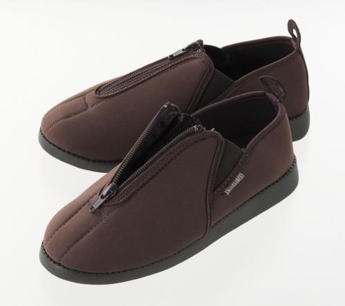 ソフト軽量靴あしかるさんブラウンLL/36点入り(代引き不可)【送料無料】
