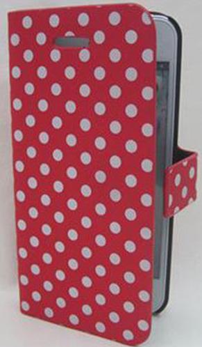 iPhone 5C専用 CASE ISA-5C-A013 ドット柄ダイアリーケース ISA-5C-A013/24点入り(6色×4個)アソート(代引き不可)【送料無料】