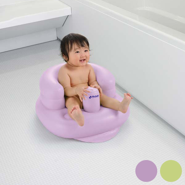 Richell fluffy baby chair R purple JP