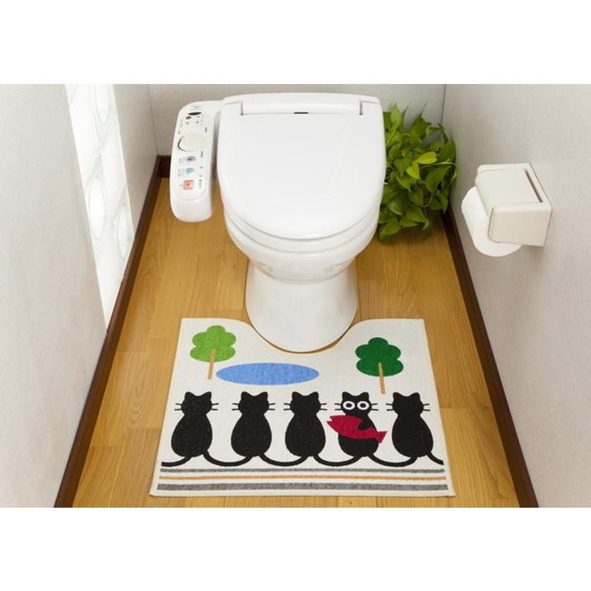 ご予約品 トイレマット トイレ マット ループ織りトイレマットキャットストーリー お得なキャンペーンを実施中 代引き不可 送料無料 タテ55xヨコ60