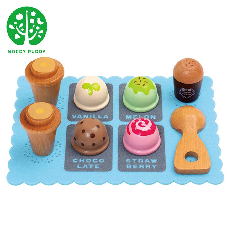 送料無料 ウッディプッディ woody 予約 puddy 豪華な はじめておままごと アイスクリーム 木製知育玩具 ままごと おままごとセット 正規販売店 アイスクリームセット はじめてのおままごと 木製 ごっこ遊び お店屋さん
