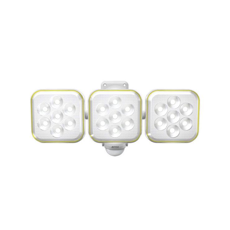 ムサシ RITEX フリーアーム式 防雨型 LEDソーラーセンサーライト 5W×3灯 S-90L【送料無料】
