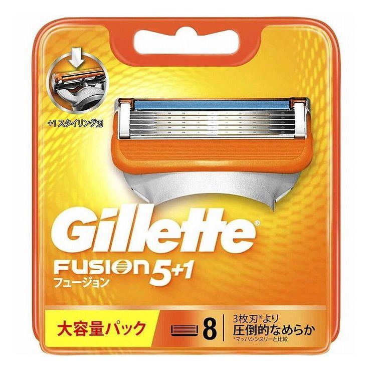 【まとめ買い】 ジレット ジレット フュージョン5+1替刃8個入×10個セット まとめ セット買い 備蓄 防災 買い溜め【送料無料】