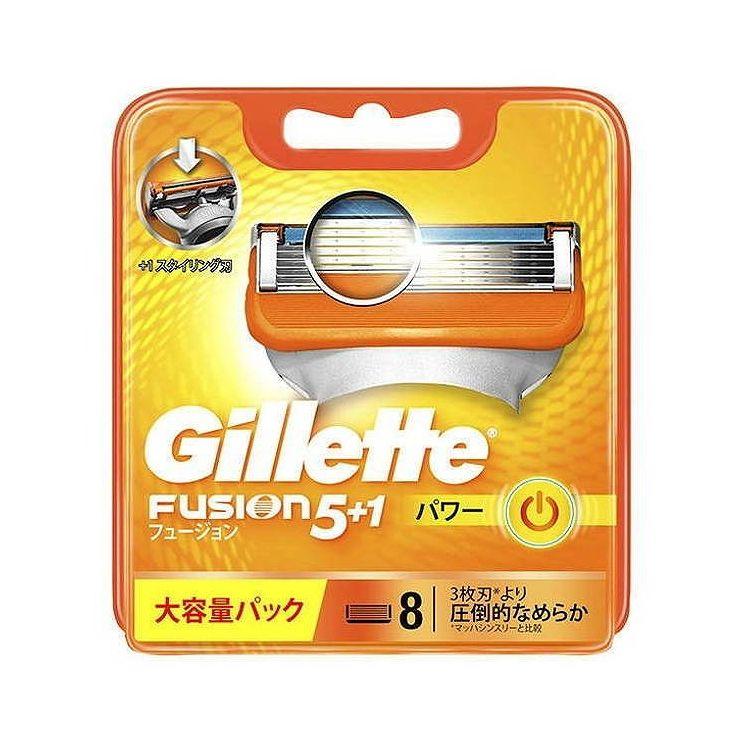 【まとめ買い】 ジレット ジレット フュージョン5+1パワー替刃8個入×10個セット まとめ セット買い 備蓄 防災 買い溜め【送料無料】