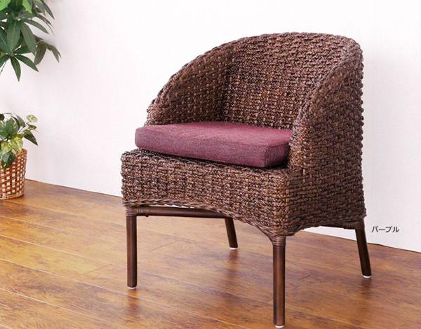 ウォーターヒヤシンス カフェチェア @CBi(アクビィ) ACC390DK 籐家具 インテリア イス 椅子 カフェチェア ダイニング(代引不可)【送料無料】