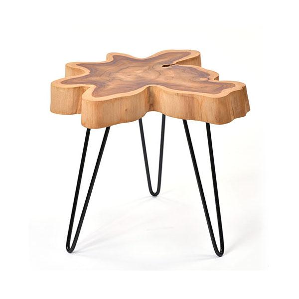 チーク無垢材 サイドテーブル @CBi(アクビィ) AZT005 家具 インテリア テーブル サイドテーブル コーヒー ナイト 机(代引不可)【送料無料】