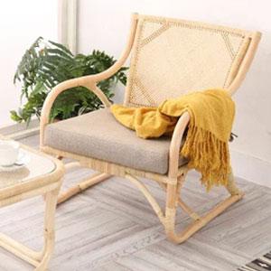 ラタン パーソナルチェア WAHOO シリーズ C201ND 家具 籐家具 インテリア イス 椅子 腰かけ チェア 一人掛け 1人掛け (代引不可)【送料無料】