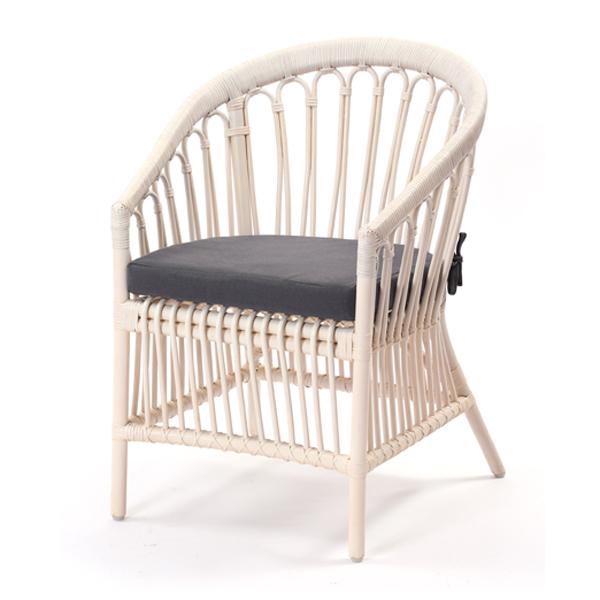 ホワイトラタン パーソナルチェア Breeze シリーズ C836WWM 家具 インテリア イス 椅子 パーソナルチェア(代引不可)【送料無料】