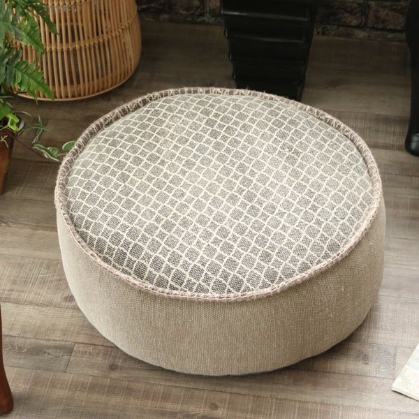 Miscellaneous Goods Interior Cushion Floor Cushion Big Round Shape Cushion Stool Natural Design Taste Fashion Collect On Delivery Impossibility In