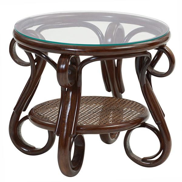 ラタン ガラステーブル 籐家具 テーブル コーヒーテーブル サイドテーブル ナイトテーブル ソファサイド ベッドサイド 籐 ガラス(代引不可)【送料無料】