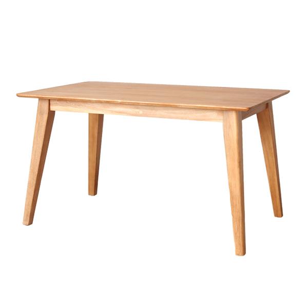 家具 インテリア ダイニングテーブル 机 食卓 125cm 4人用 4人掛け チーク 無垢材 アジアン ナチュラル 自然(代引不可)【送料無料】