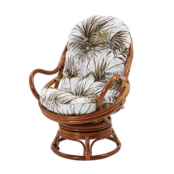 回転チェア 葉柄 回転チェア チェア スツール 椅子 座椅子 アジアン エスニック 一人掛けソファ(代引不可)【送料無料】