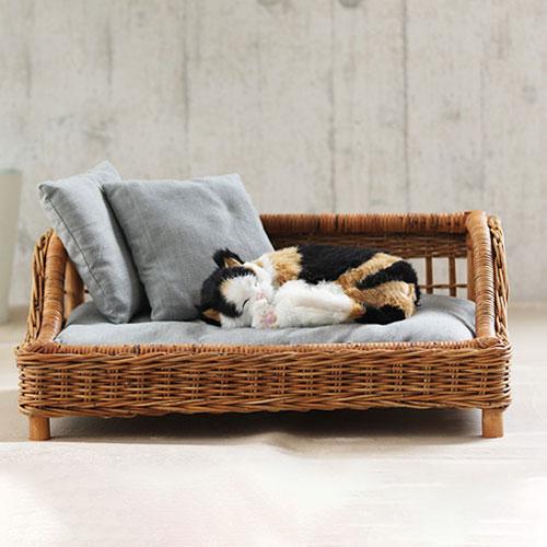 ペット ベッド カドラー クッション ラタン 籐 アジアン ナチュラル 北欧 犬 猫(代引不可)【送料無料】