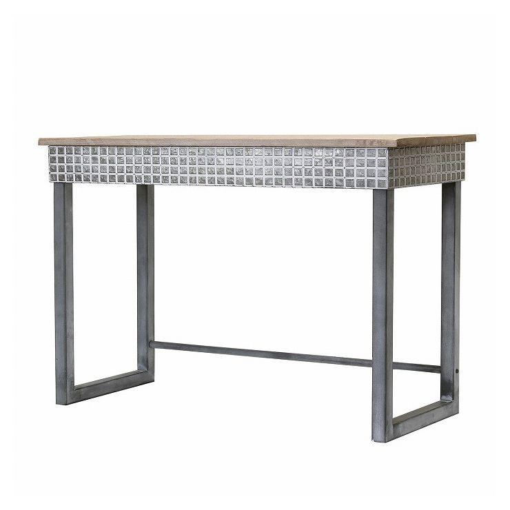 SCANDINAVIAN メタルスタンドウッドテーブル FJGK2950(代引不可)【送料無料】