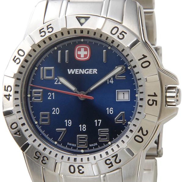 WENGER ウェンガー 腕時計 WEN72618 メンズ マウンテイナー ブルー/シルバー【送料無料】