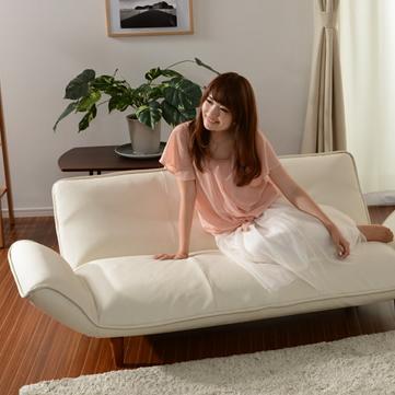 日本製 ソファー ソファ カウチソファ カウチソファー 3人掛け 三人掛け ソファベッド リクライニング 「KAN-3P」(代引不可)【送料無料】
