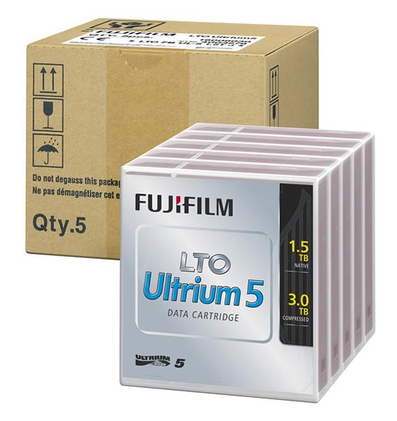 <LTOテープ>富士フイルムコンピューターメディア( LTO Ultrium 5 / 非圧縮時1.5TB・圧縮時3.0T 5巻パック品 ) LTO FB UL-5 1.5T JX5(代引き不可)