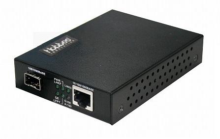 ホブス HOBES 光メディアコンバータ 10/100/1000T-100/1000FX SFP LC SMF80kmWDMA HME-1100W/LC80BS(き)