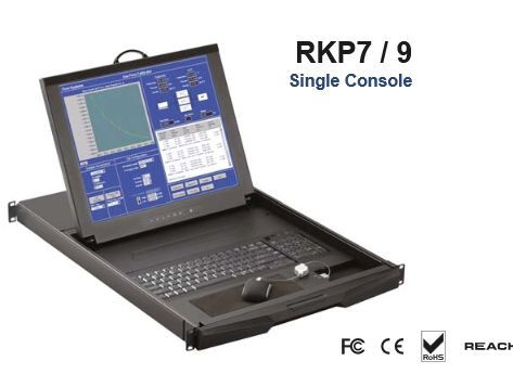 オースティンヒューズ OSTEN 1U 17インチ LCD モニター/テンキー付キーボード/ドロアー +16 ポート KVMスイッチ + ミニマウス ローカルコンソール RKP7-S1601E(代引き不可)
