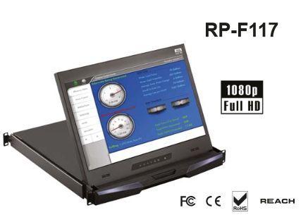 オースティンヒューズ OSTEN 1U 17インチ フルHD LCDモニタードロアー SDIオプション付 RP-F117SDI(き)