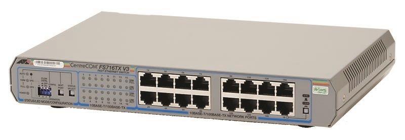 アライドテレシス CentreCOM FS716TX V3-Z1 [10/100BASE-TXx16(デリバリースタンダード保守1年付)] (0250RZ1)()