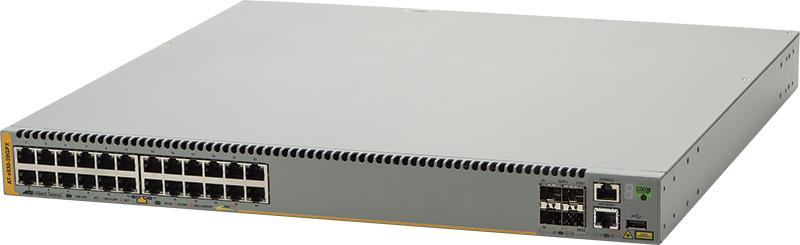 アライドテレシス AT-x930-28GPX-Z1 [10/100/1000BASE-Tx24(PoE-OUT)、SFP+スロットx4(デリバリースタンダード保守1年付)]()