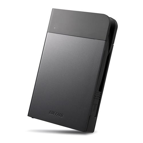 バッファロー ICカード対応MILスペック耐衝撃ボディー防滴・防塵ポータブルHDD 2TB ブラック(代引不可)