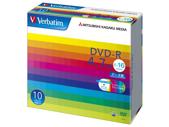 三菱化学メディア DVD-R(Data)4.7GB 5mmケース 10P インクジェットプリンタ対応(白) (DHR47JP10V1)(代引不可)