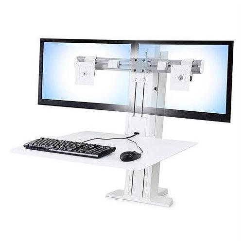 ERGOTRON WorkFit-SR デュアルモニター 昇降式ワークステーション(ホワイト) 33-407-062(代引不可)