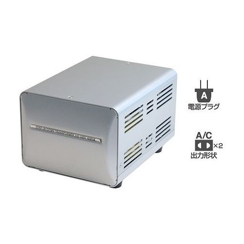 カシムラ 海外国内用型変圧器220-240V/1500VA WT-13EJ(代引不可)