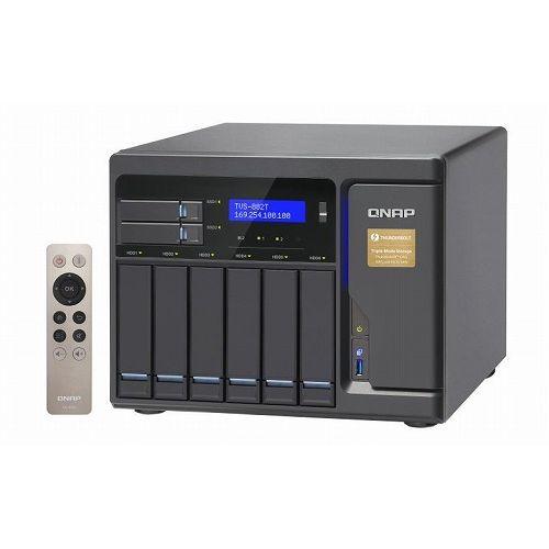 QNAP TVS-882T 12TB HDD搭載モデル (ミドルクラス 2TB HDD x 6 搭載) TVS-882T/12TB(代引不可)
