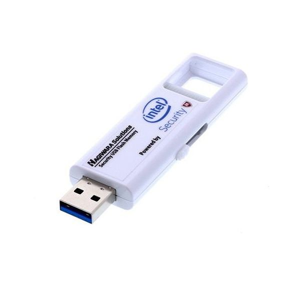 ハギワラソリューションズ ウィルス対策USBメモリー(マカフィー) 128GB 1年ライセンス USB3.0 HUD-PUVM3128GA1(代引不可)