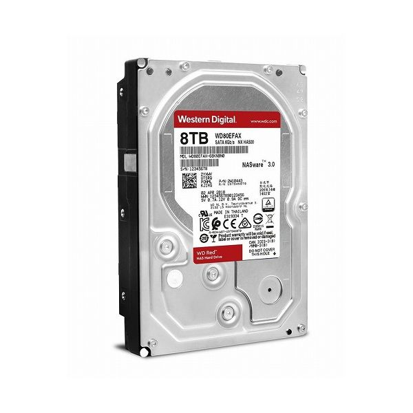 ウエスタンデジタル WD Red 3.5インチ内蔵HDD 8TB SATA6Gb s 5400rpm 256MB WD80EFAX-R(代引不可)