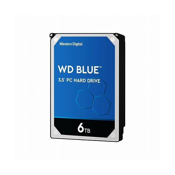 ウエスタンデジタル WD Blue 3.5インチ内蔵HDD 6TB SATA6Gb s 5400rpm 256MB WD60EZAZ(代引不可)