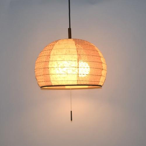日本製和紙照明 半円型提灯ペンダントライト 雲龍(代引き不可)【送料無料】