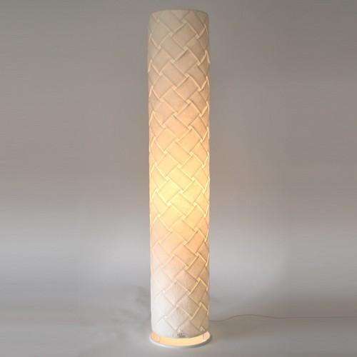 日本製和紙照明 筒型フロアライト 折り和紙【送料無料】