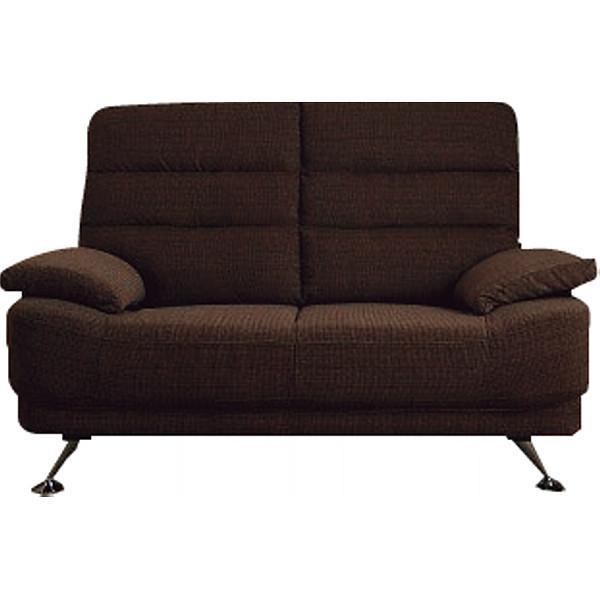 コイルスプリングハイバックソファ2人掛け ブラウン 木製品 家具 ソファ 座椅子 二人掛け用 S-1949BR(代引不可)【送料無料】