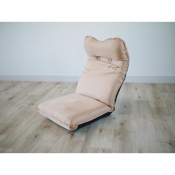 ズレ落ち防止加工折りたたみ座椅子 ベージュ 木製品 家具 ソファ 座椅子 肘なし座椅子 TT-05BE(代引不可)【送料無料】
