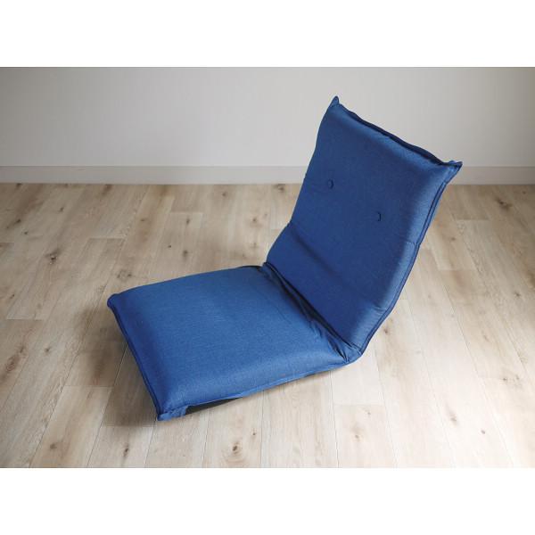 ズレ落ち防止加工 折りたたみ座椅子 ブルー 木製品 家具 ソファ 座椅子 肘なし座椅子 TT-06BL(代引不可)【送料無料】