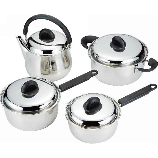 ミヤコジャパン 鍋4点セット ミヤコジャパン 鍋ケトルフライパン 多層鋼ステン鍋 両手 片手鍋セット MJ-150G(代引不可)