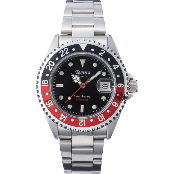 トモラ ダイバーメンズ腕時計 ブラック×レッド 装身具 紳士装身品 紳士腕時計 TO-028MR-T1(代引不可)【送料無料】