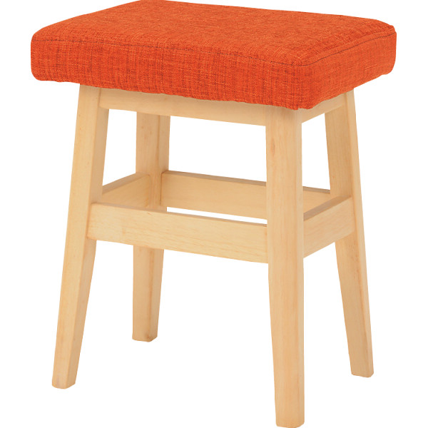 スツール 2脚セット オレンジ 木製品 家具 ソファ 座椅子 VH-7943ORS(代引不可)【送料無料】