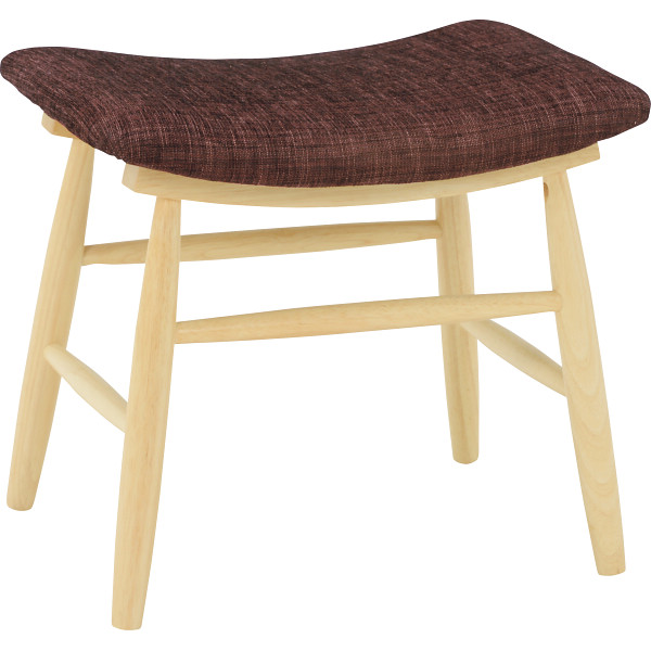 スツール 2脚セット ブラウンナチュラル 木製品 家具 ソファ 座椅子 VH-7947BR(代引不可)【送料無料】