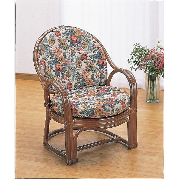 籐アームチェア 木製品 家具 籐家具 座椅子 H28Y460B(代引不可)【送料無料】