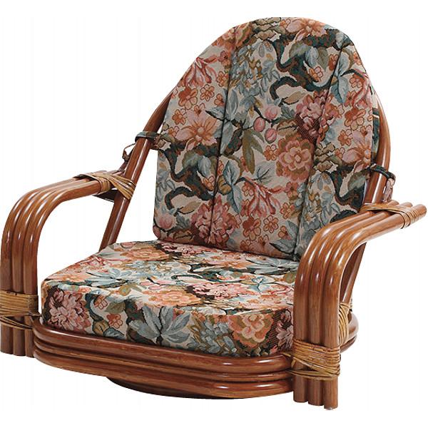 回転チェア 木製品 家具 籐家具 チェア C820HRNS(代引不可)【送料無料】