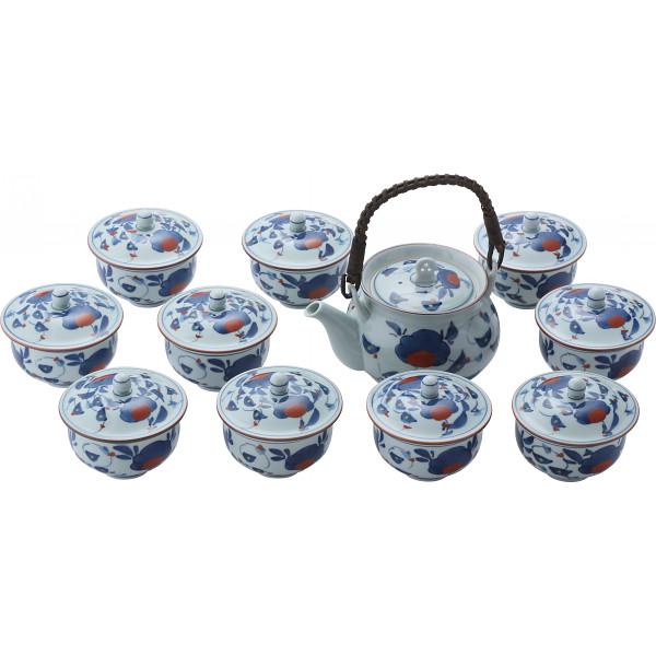 松幸窯 古代万歴絵 10客番茶器揃 和陶器 和陶茶器 蓋付土瓶茶器 007-027M(代引不可)【送料無料】