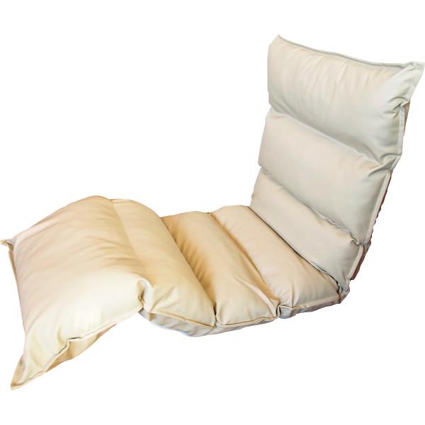 高反発フリーリクライニング座椅子 アイボリー 木製品 家具 ソファ 座椅子 肘なし座椅子 KPGCR-LE295IV(代引不可)【送料無料】