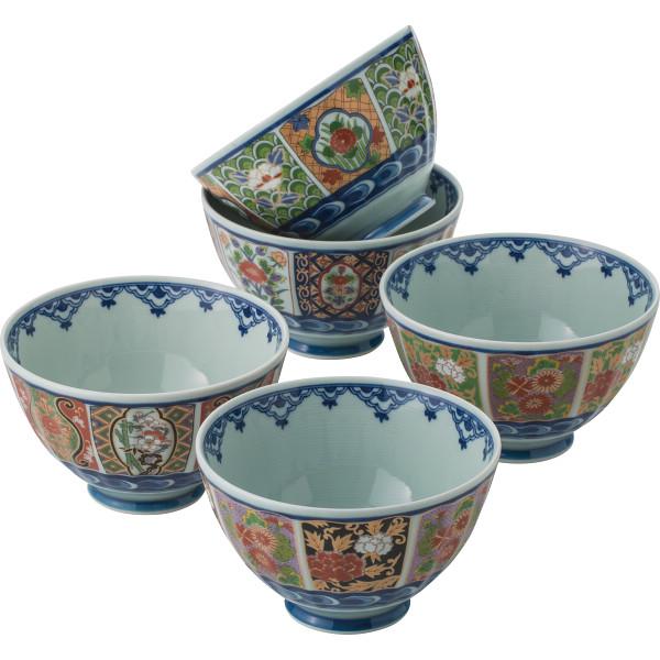 波佐見焼 古伊万里様式 絵変り茶漬5客揃 和陶器 和陶茶碗 5客茶碗 569176(代引不可)