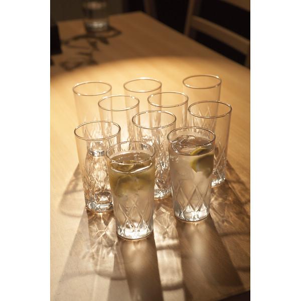 タンブラー10個セット ガラス製品 ガラスカップ タンブラーセット MZ05069-10(代引不可)