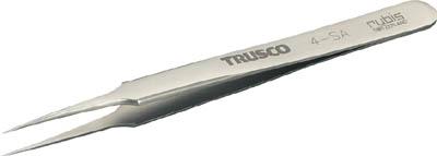 TRUSCO チタン製ピンセット 110mm 先細超極細型【4-TNF】(はんだ・静電気対策用品・ピンセット)